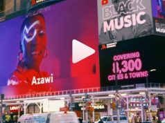 VIDEO: Azawi Appears on New York, Los Angeles Billboards After Bobi Wine and Eddy Kenzo